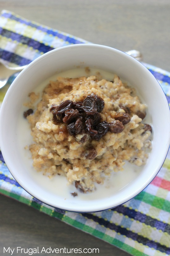 Crock Pot Maple and Brown Sugar Oatmeal recipe