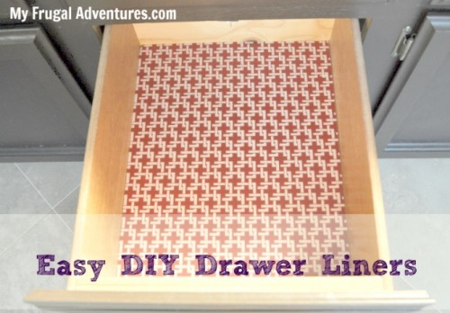 Genial DIY Shelf And Drawer Liners