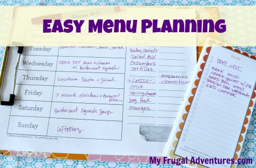 menu planning 3