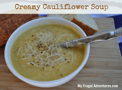 Creamy Cauliflower Soup (without the cream!)