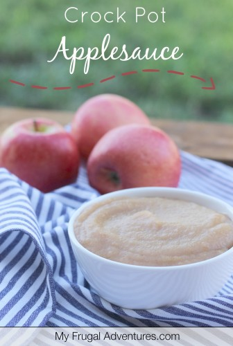 Easy Crock Pot Applesauce- just 3 ingredients, no added sugar and absolutely delicious!