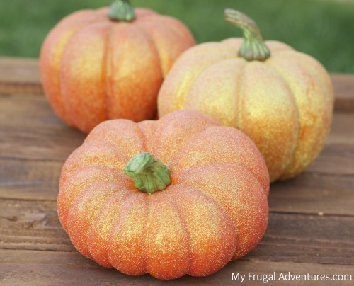 Homemade Glitter Pumpkins