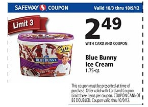 Blue and cream coupon