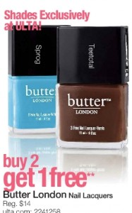 Ulta Coupon $3.50 off $10 (Butter Nail Polish $8 Each) - My Frugal Adventures