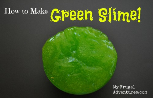 Childrens craft idea how to make green slime my frugal adventures childrens craft idea how to make green slime ccuart Gallery