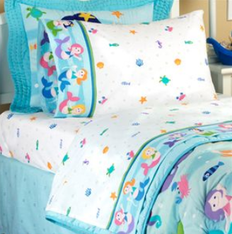 Good There is a really cute Olive Kids Mermaid sheet set available today for That is for the full size and I think a great deal for little mermaid fans