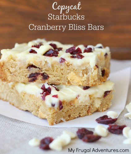 Copycat Starbucks Cranberry Bliss Bars Recipe- these are so delicious!