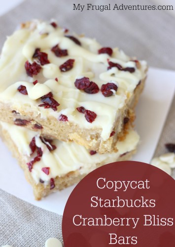 Copycat Starbucks Cranberry Bliss Bars- these are AMAZING!