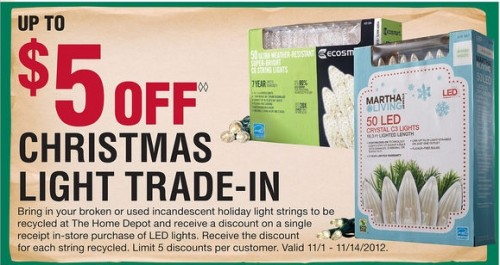 Home Depot: Christmas Light Trade-In