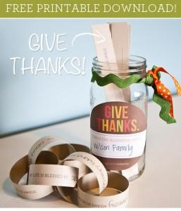 Free Printable: Gratitude Jar