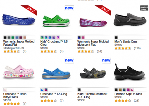 dd029705f0757 Choose from over 80 styles of Crocs priced  19.99 or less today for the  entire family. There is a nice selection so you will want to scroll through  all of ...