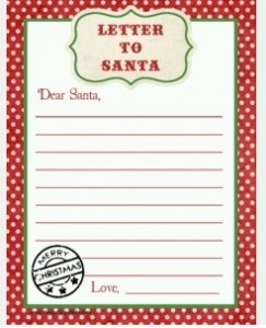 Free Printable Santa Letters - My Frugal Adventures