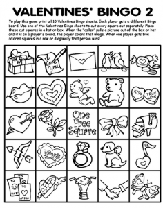 Free Valentine's Day Coloring Pages, Cards, Activities and ...