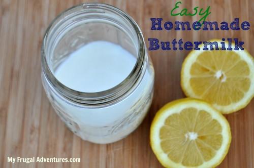 easy homemade buttermilk