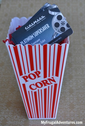 Teacher Gift Idea: Movie Ticket Gift Wrap