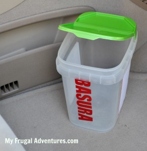 Upcycled Casade Containers (DIY Car Trash can)