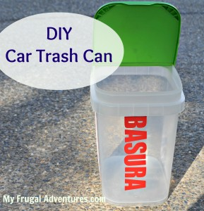 Upcycled Casade Containers Diy Car Trash Can My Frugal