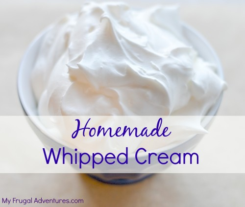 Homemade Whipped Cream Recipe- so light and fresh and absolutely delicious!