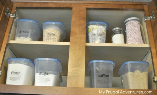 Simple (and Inexpensive) Pantry Organization