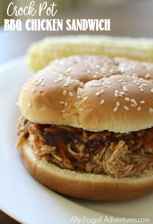 Crock Pot BBQ Chicken Sandwich