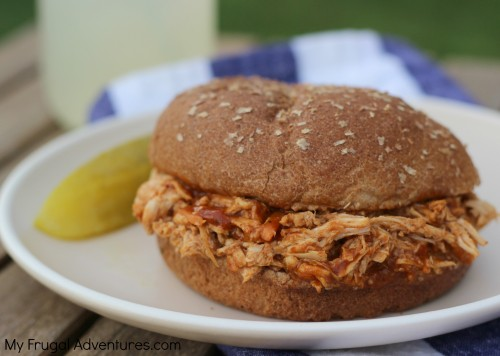Crock Pot Chicken Sandwich