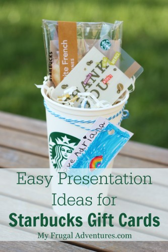 Easy Presentation Ideas for Starbucks Gift Cards