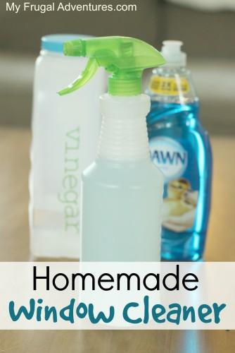 Easy homemade window cleaner