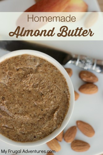 Homemade Almond Butter Recipe- so delicious and so simple to make!