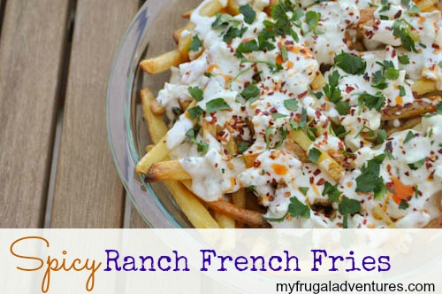 Spicy Blue Cheese and Ranch French Fries