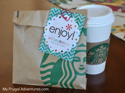 Teacher Gift idea: Starbucks Gift Cards