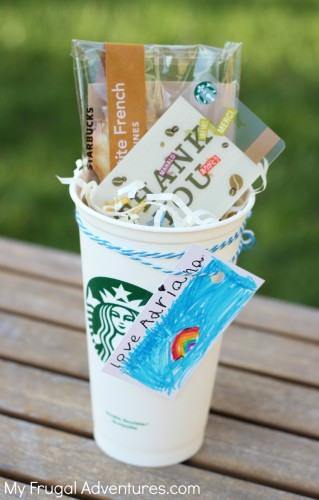 Starbucks gift card cup
