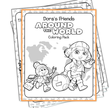 Dora The Explorer Worksheets | Printable Worksheets and Activities ... | 446x454