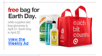 Target earth day giveaways