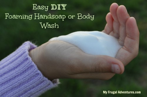 Easy DIY Foaming Hand Soap or Foaming Body Wash