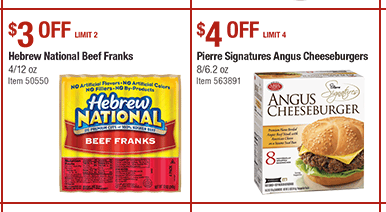 Hebrew National Hot Dogs Coupons