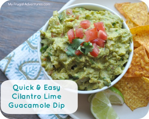 Cilantro Lime Guacamole Dip