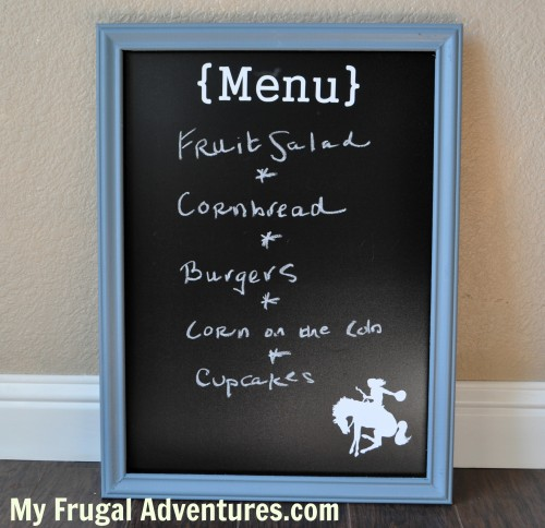 Easy DIY Framed Chalkboard - My Frugal Adventures
