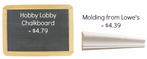 easy diy framed chalkboard