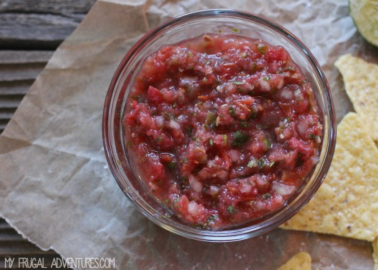 Homemade Salsa so simple