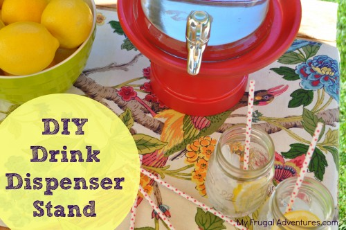 DIY Drink Dispenser Stand {Pottery Barn Knock Off}