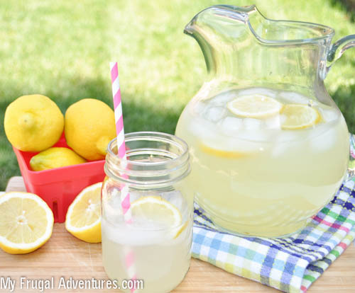 Perfect Homemade Lemonade Recipe via My Frugal Adventures (1 of 1)