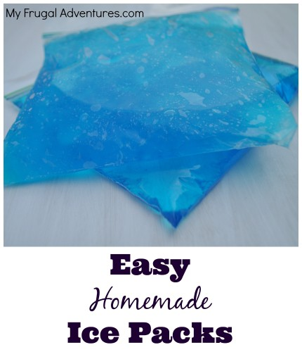 Quick and Easy Homemade Gel Ice Packs-- just one ingredient needed to make instant gel ice packs. Pin this if you have children!