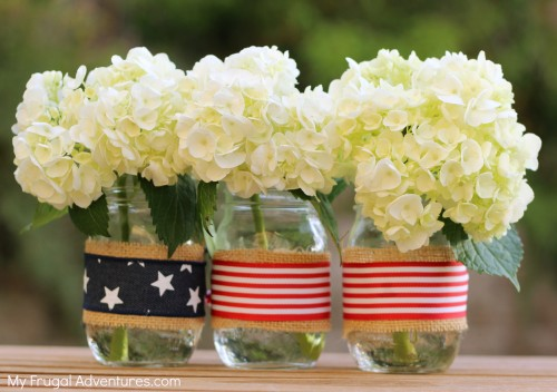 4th of july mason jars