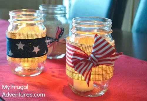 Super Simple 4th of July Mason Jars