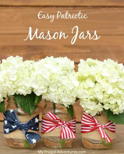 Easy Patriotic Mason Jars