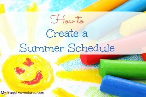 Creating a Summer Schedule