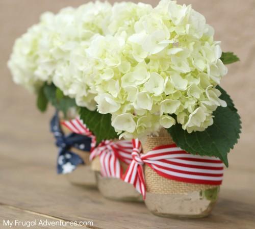 How to make patriotic mason jars