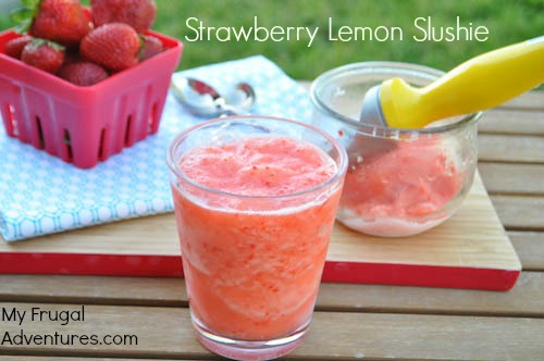 Lemon Strawberry Sorbet Recipe