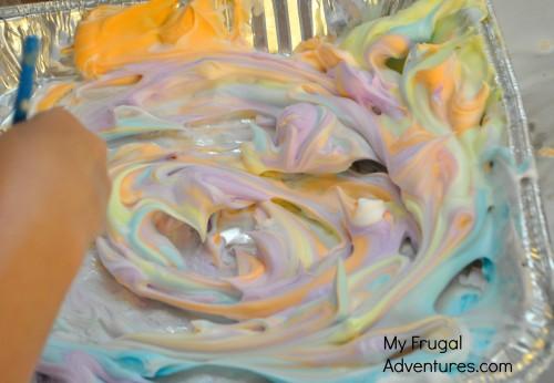 Shaving Cream Painting (Homemade Bathtub Paint)
