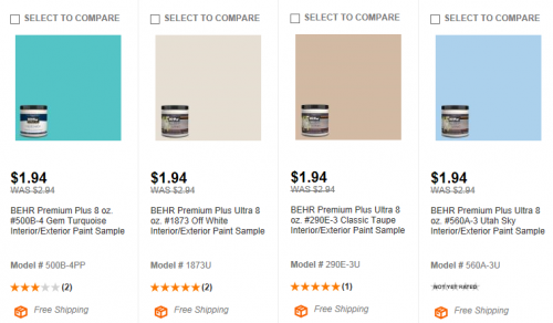 Home Depot Behr Paint Samples 4848 Shipped My Frugal Adventures Interesting Behr Exterior Paint Home Depot